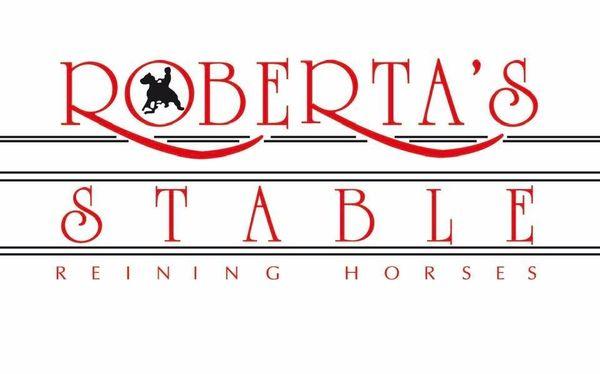 robertas stable reining horses logo
